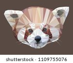 vector illustration of low poly ... | Shutterstock .eps vector #1109755076