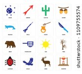 set of 16 icons such as bonfire ...
