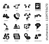 set of 16 icons such as... | Shutterstock .eps vector #1109755670