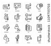 set of 16 icons such as mobile  ...   Shutterstock .eps vector #1109755703