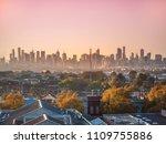 skyscrapers in melbourne's cbd...   Shutterstock . vector #1109755886