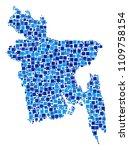 bangladesh map mosaic of random ... | Shutterstock .eps vector #1109758154