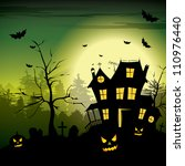 scary house   halloween... | Shutterstock .eps vector #110976440