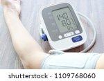 man check blood pressure... | Shutterstock . vector #1109768060