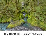Small photo of Robinsons Creek on the way to Haast Pass, New Zealand South Island.