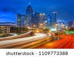 atlanta  georgia  usa downtown...   Shutterstock . vector #1109773388