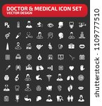 doctor and medical vector icon... | Shutterstock .eps vector #1109777510