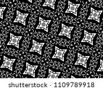 ornament with elements of black ... | Shutterstock . vector #1109789918