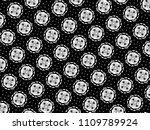 ornament with elements of black ... | Shutterstock . vector #1109789924