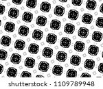 ornament with elements of black ... | Shutterstock . vector #1109789948