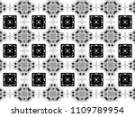 ornament with elements of black ... | Shutterstock . vector #1109789954