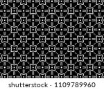 ornament with elements of black ... | Shutterstock . vector #1109789960