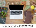 cooking and computer laptop... | Shutterstock . vector #1109792339