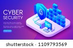 cyber security technology... | Shutterstock .eps vector #1109793569