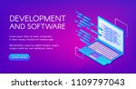 software development vector... | Shutterstock .eps vector #1109797043