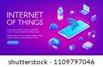 internet of things vector...   Shutterstock .eps vector #1109797046