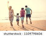asian family playing at the... | Shutterstock . vector #1109798606
