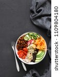 vegetarian healthy food. clean...   Shutterstock . vector #1109804180