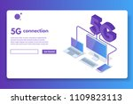 5g connection isometric concept.... | Shutterstock .eps vector #1109823113