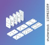 domino isometric concept.... | Shutterstock .eps vector #1109823359