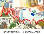 some us dollar and euro... | Shutterstock . vector #1109826986