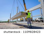 workers are helping mobile...   Shutterstock . vector #1109828423