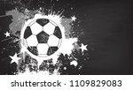grunge abstract football... | Shutterstock .eps vector #1109829083
