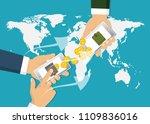 sending and receiving money.... | Shutterstock .eps vector #1109836016