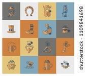 saint patricks day icon set.... | Shutterstock .eps vector #1109841698