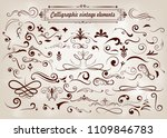 set of hand drawn elements... | Shutterstock .eps vector #1109846783