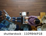 top view of small business... | Shutterstock . vector #1109846918