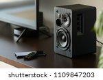 bookshelf speaker with remote... | Shutterstock . vector #1109847203