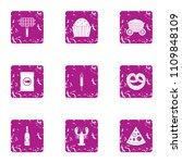 cookout icons set. grunge set...   Shutterstock .eps vector #1109848109