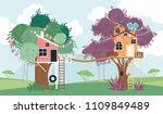 tree house cartoon illustration.... | Shutterstock .eps vector #1109849489