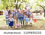 family celebration or a garden... | Shutterstock . vector #1109850233
