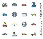 auto icons colored line set... | Shutterstock .eps vector #1109850929