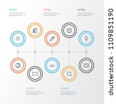 image icons line style set with ... | Shutterstock .eps vector #1109851190