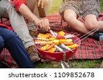 travel group of friends enjoy... | Shutterstock . vector #1109852678