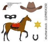 wild west. elements of the wild ...   Shutterstock .eps vector #1109854250