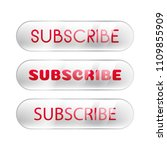 subscribe button shine chrome... | Shutterstock .eps vector #1109855909