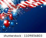 usa 4th of july happy... | Shutterstock .eps vector #1109856803