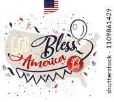 god bless america. greeting... | Shutterstock .eps vector #1109861429