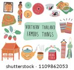 thailand travel element with... | Shutterstock .eps vector #1109862053