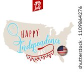 happy independence day.... | Shutterstock .eps vector #1109864276