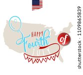 happy fourth of july.... | Shutterstock .eps vector #1109865839