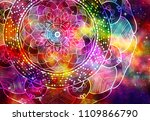 abstract ancient geometric with ... | Shutterstock . vector #1109866790