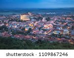 castle is in the town of... | Shutterstock . vector #1109867246
