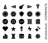 game icon set   glyph style | Shutterstock .eps vector #1109869676