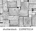 abstract wood block pattern | Shutterstock . vector #1109870114
