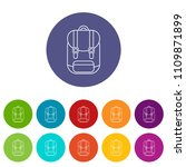 backpack icons color set vector ...   Shutterstock .eps vector #1109871899